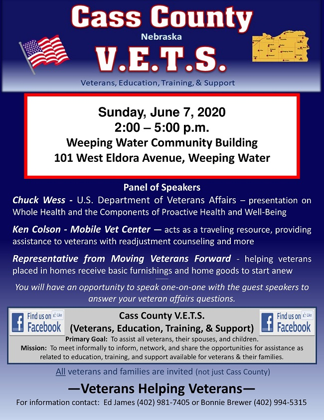 Cass County VETS June 7 2020