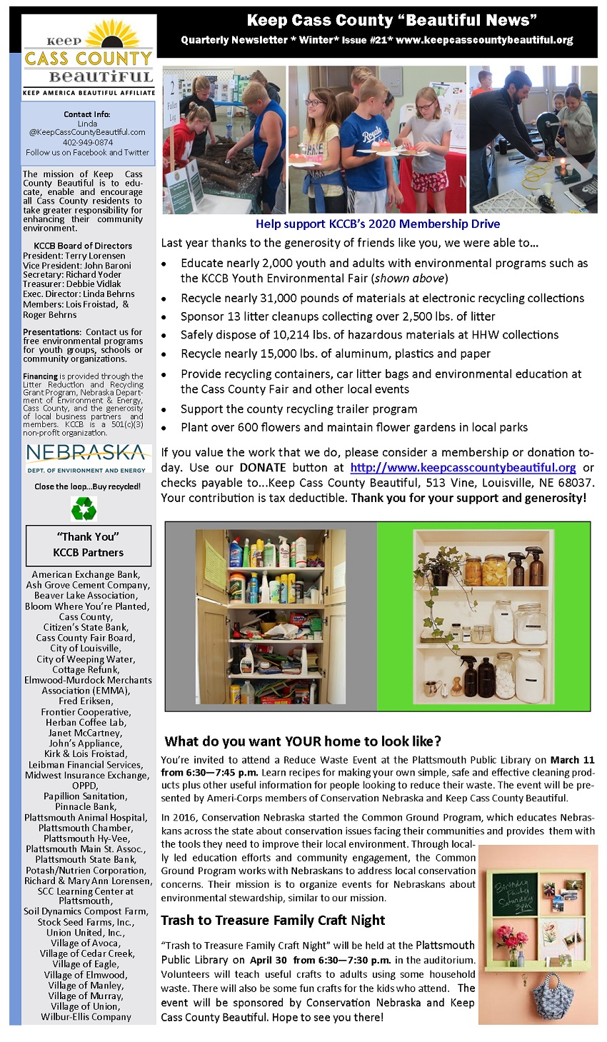2020 Winter Newsletter page1